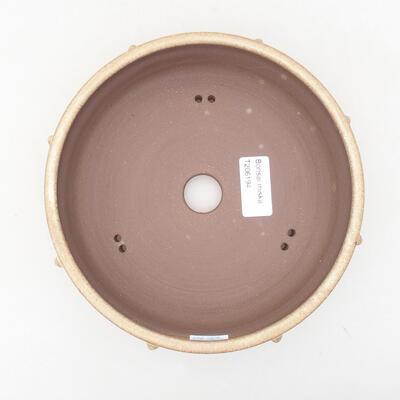 Ceramic bonsai bowl 18 x 18 x 5.5 cm, beige color - 3