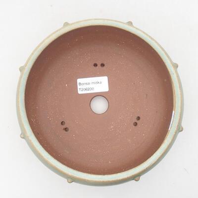 Ceramic bonsai bowl 17 x 17 x 7 cm, color green - 3