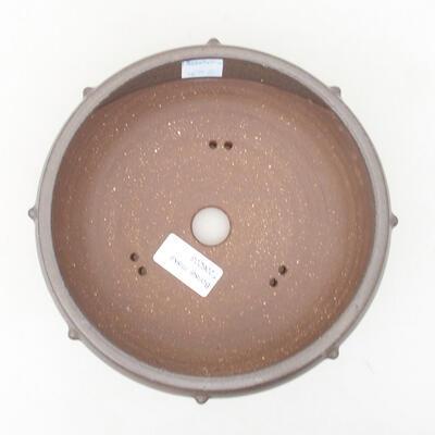 Ceramic bonsai bowl 17 x 17 x 7 cm, color gray - 3
