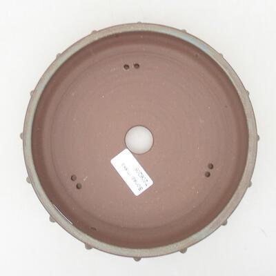 Ceramic bonsai bowl 18 x 18 x 4.5 cm, gray color - 3