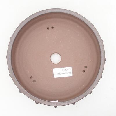 Ceramic bonsai bowl 18 x 18 x 4.5 cm, brown color - 3
