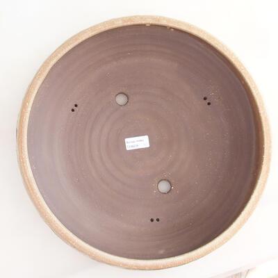 Ceramic bonsai bowl 36.5 x 36.5 x 9.5 cm, beige color - 3