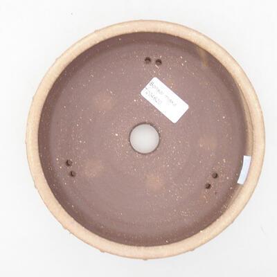 Ceramic bonsai bowl 17 x 17 x 4.5 cm, beige color - 3