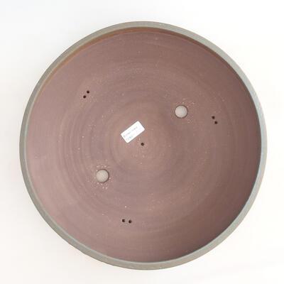 Ceramic bonsai bowl 38 x 38 x 9 cm, color blue - 3