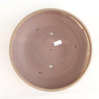 Ceramic bonsai bowl 37.5 x 37.5 x 9 cm, brown color - 3
