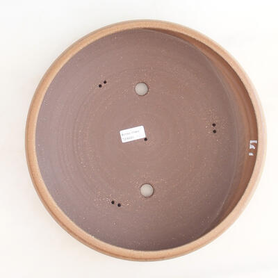 Ceramic bonsai bowl 34 x 34 x 8.5 cm, brown color - 3