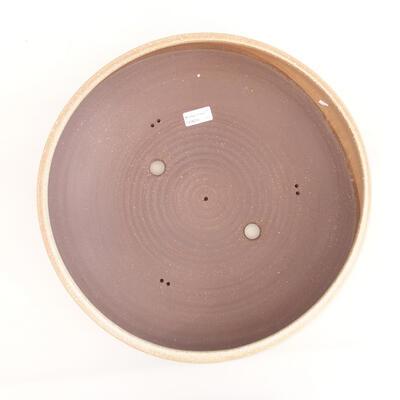 Ceramic bonsai bowl 39 x 39 x 11 cm, color beige - 3