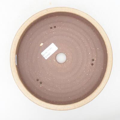 Ceramic bonsai bowl 20.5 x 20.5 x 5.5 cm, beige color - 3