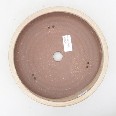 Ceramic bonsai bowl 20 x 20 x 6 cm, beige color - 3