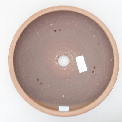 Ceramic bonsai bowl 24 x 24 x 6 cm, color brown - 3