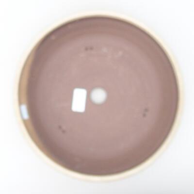 Ceramic bonsai bowl 28 x 28 x 7 cm, beige color - 3