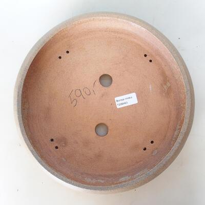 Ceramic bonsai bowl 31 x 31 x 6 cm, color gray-green - 3