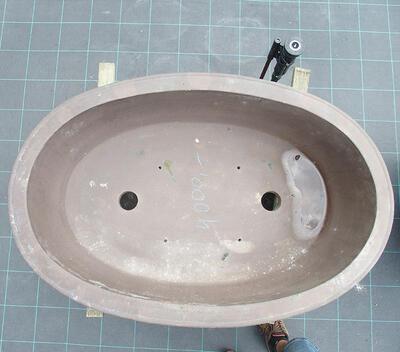 Bonsai bowl 100 x 66 x 24 cm, gray color - 3