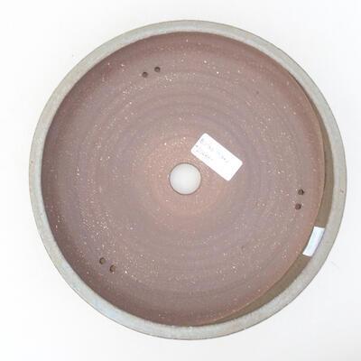 Ceramic bonsai bowl 22 x 22 x 5 cm, color gray - 3