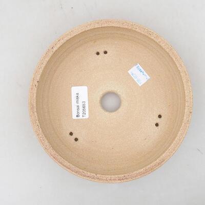 Ceramic bonsai bowl 21 x 21 x 6 cm, color brown - 3