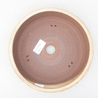Ceramic bonsai bowl 20 x 20 x 5 cm, beige color - 3