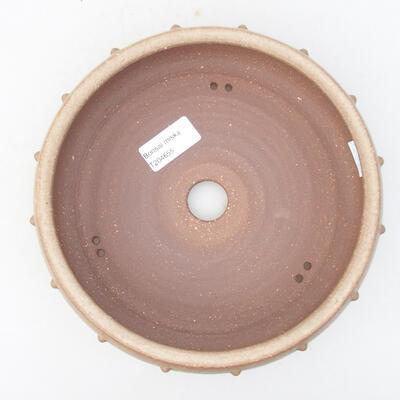 Ceramic bonsai bowl 19 x 19 x 5.5 cm, beige color - 3