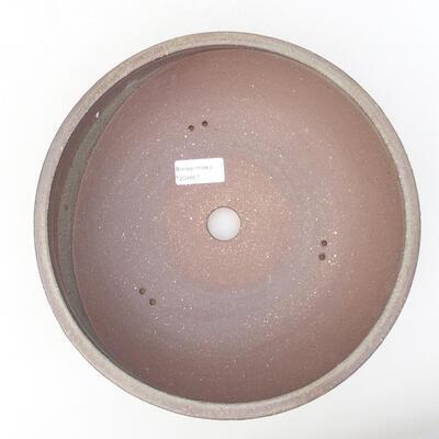 Ceramic bonsai bowl 25 x 25 x 8 cm, color gray - 3