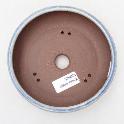Ceramic bonsai bowl 14.5 x 14.5 x 5 cm, color blue - 3