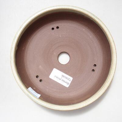 Ceramic bonsai bowl 17 x 17 x 4 cm, beige color - 3