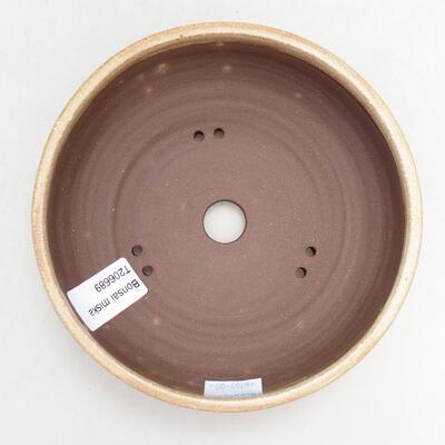 Ceramic bonsai bowl 15 x 15 x 5 cm, beige color - 3