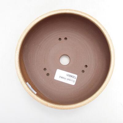 Ceramic bonsai bowl 14.5 x 14.5 x 6 cm, beige color - 3