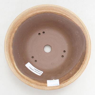 Ceramic bonsai bowl 16.5 x 16.5 x 6 cm, beige color - 3