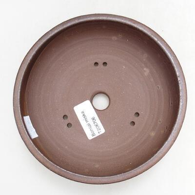 Ceramic bonsai bowl 15.5 x 15.5 x 4.5 cm, brown color - 3