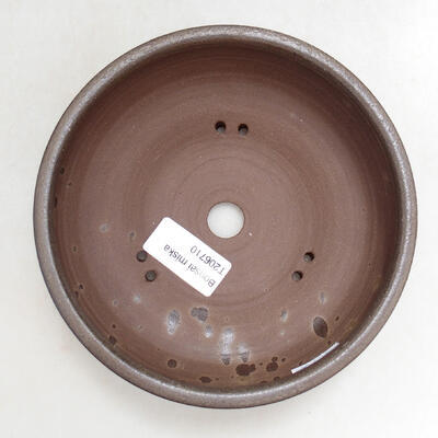 Ceramic bonsai bowl 15 x 15 x 5.5 cm, brown color - 3