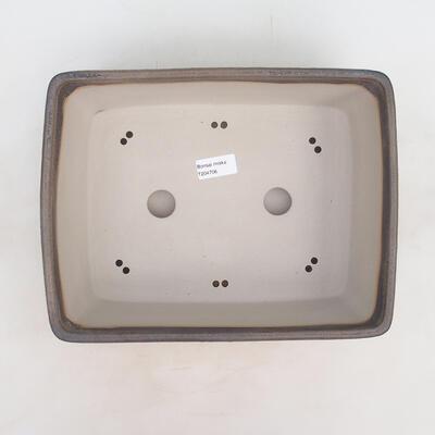 Bonsai bowl 30 x 23 x 10 cm, gray-beige color - 3