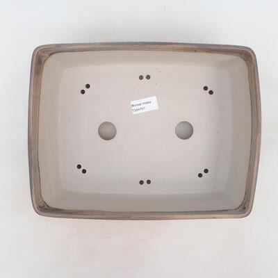 Bonsai bowl 30 x 23 x 9 cm, gray-beige color - 3