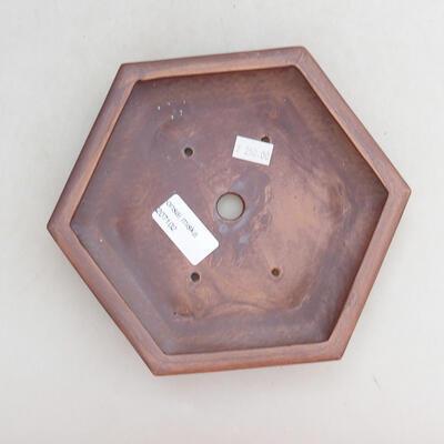 Ceramic bonsai bowl 18 x 16 x 4 cm, gray color - 3