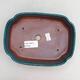 Ceramic bonsai bowl 17.5 x 13.5 x 4.5 cm, color green - 3/3