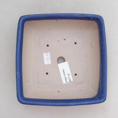 Ceramic bonsai bowl 15.5 x 15.5 x 5.5 cm, color blue - 3
