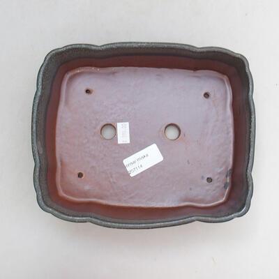 Ceramic bonsai bowl 20.5 x 17 x 7 cm, gray color - 3