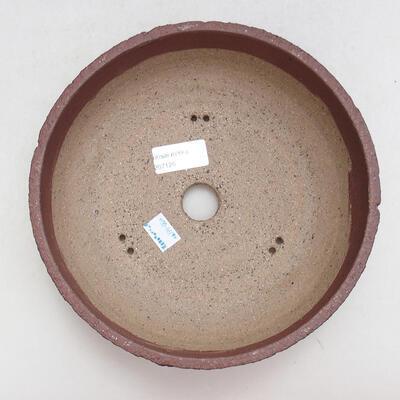 Ceramic bonsai bowl 21.5 x 21.5 x 7 cm, color cracked - 3