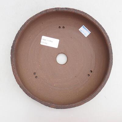 Ceramic bonsai bowl 19 x 19 x 5.5 cm, color cracked - 3