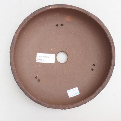 Ceramic bonsai bowl 19 x 19 x 6 cm, color cracked - 3