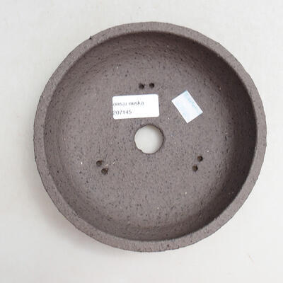 Ceramic bonsai bowl 16.5 x 16.5 x 5.5 cm, color cracked - 3