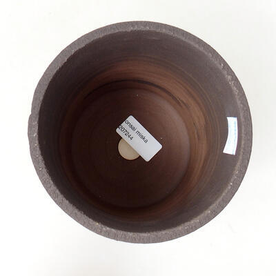 Ceramic bonsai bowl 13 x 13 x 15.5 cm, color cracked - 3