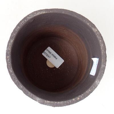 Ceramic bonsai bowl 11.5 x 11.5 x 15 cm, color cracked - 3