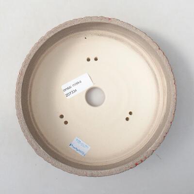 Ceramic bonsai bowl 13 x 13 x 6 cm, color red - 3