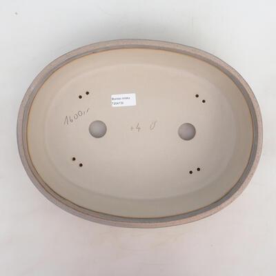 Bonsai bowl 35 x 27 x 9.5 cm, gray-beige color - 3