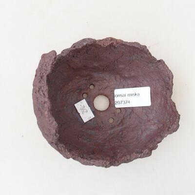 Ceramic Shell 11 x 10.5 x 11.5 cm, gray color - 3