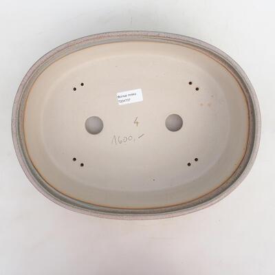 Bonsai bowl 34 x 26 x 9.5 cm, gray-beige color - 3