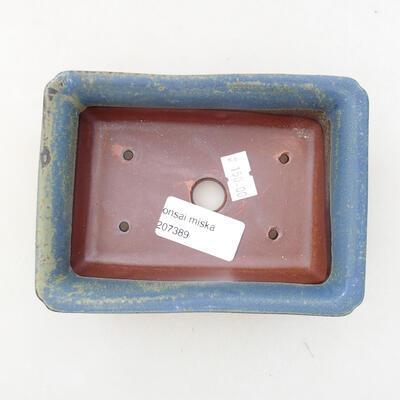 Ceramic bonsai bowl 13.5 x 9.5 x 4 cm, color blue - 3