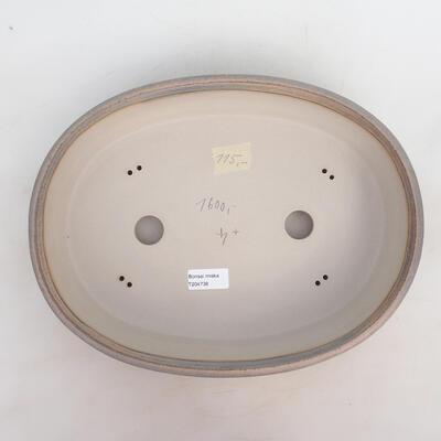 Bonsai bowl 34 x 26 x 7.5 cm, gray-beige color - 3