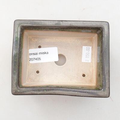 Ceramic bonsai bowl 11 x 8.5 x 4.5 cm, color green - 3
