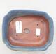 Ceramic bonsai bowl 15 x 12 x 4.5 cm, color blue - 3/3