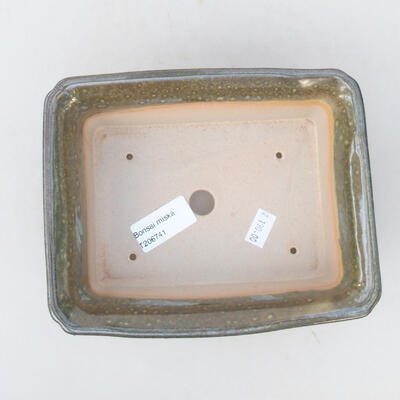 Ceramic bonsai bowl 18 x 14 x 7 cm, color green - 3